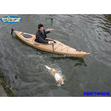 3.44mtr Imitation of Wood-Grain Deck Single Touring Kayak